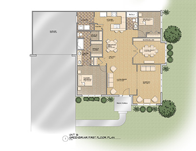 The Greenbriar Floor Plan @ Old Silo Hill