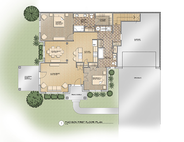 The Madison First Floor Floor Plan