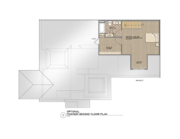 The Madison Second Floor Floor Plan