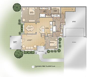 The Madison Floor Plan @ Old Silo Hill