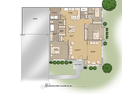 The Princeton Floor Plan @ Old Silo Hill