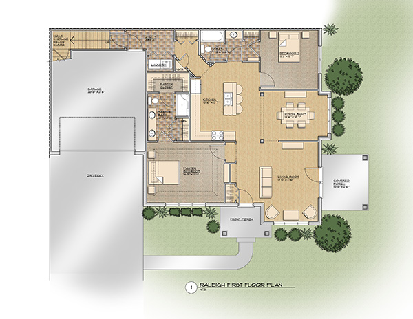 The Raleigh First Floor Floor Plan