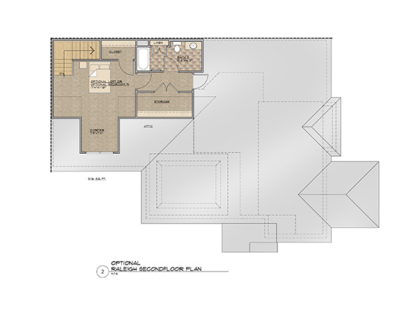 The Raleigh Second Floor Floor Plan